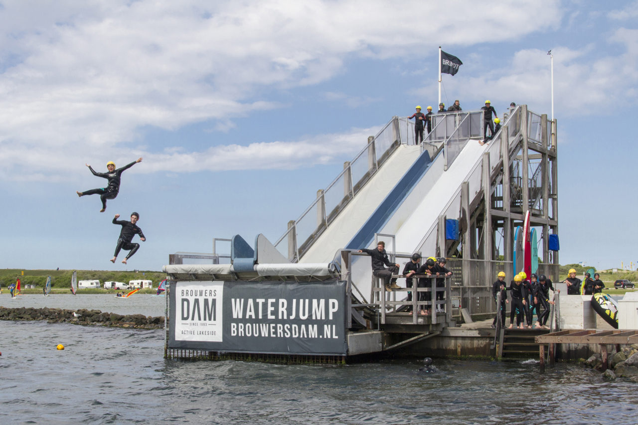 active lakeside waterjump